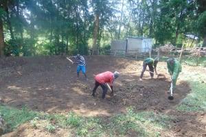 The Water Project: Friends Kuvasali Secondary School -  Rain Tank Site Excavation