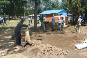 The Water Project: St. Peter's Khaunga Secondary School -  Preparing Construction Materials