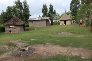 The Water Project: Mukhonje Community, Mausi Spring -  Household Compound