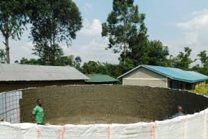 The Water Project: Makale Primary School -  Cement Progress Inside