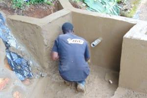 The Water Project: Chepnonochi Community, Shikati Spring -  Cementing The Walls