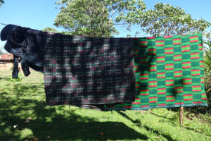 The Water Project: Mahira Community, Kusimba Spring -  Beddings Drying