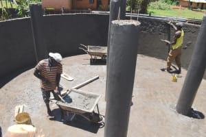 The Water Project: Gamalenga Primary School -  Plastering Interior Pillars