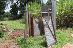 The Water Project: Mahira Community, Wora Spring -  Bathing Shelter