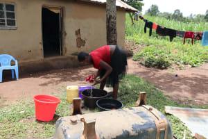The Water Project: Mahira Community, Wora Spring -  Washing