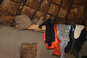 The Water Project: Mukhonje Community, Mausi Spring -  Clothes Drying Inside A House