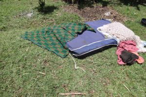 The Water Project: Mahira Community, Wora Spring -  Beddings Being Dried