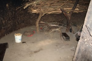 The Water Project: Litinye Community, Shivina Spring -  Firewood Storage In The Kitchen
