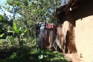 The Water Project: Mahira Community, Kusimba Spring -  A Bathing Shelter