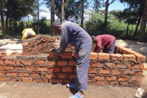 The Water Project: Friends School Mahira Primary -  Kenya Building Latrine Walls
