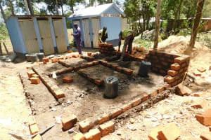The Water Project: St. Peter's Khaunga Secondary School -  Latrine Construction