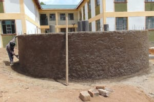 The Water Project: Friends Secondary School Shirugu -  Wall Plastering