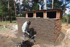 The Water Project: Friends School Mahira Primary -  Latrine Stalls Take Shape