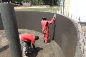 The Water Project: Friends Secondary School Shirugu -  Interior Plastering