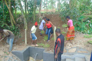 The Water Project: Bukhaywa Community, Ashikhanga Spring -  Grass Planting
