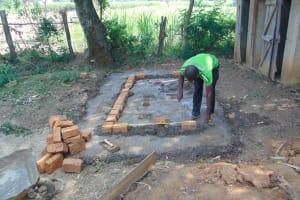 The Water Project: Friends Kuvasali Secondary School -  Brick Work At The Latrines