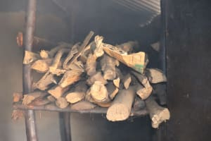 The Water Project: Mukhuyu Community, Chisombe Spring -  Firewood Storage In The Kitchen