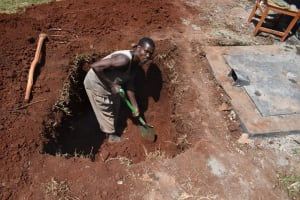 The Water Project: Gamalenga Primary School -  Digging The Soak Pit