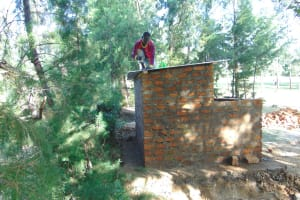 The Water Project: Friends Kuvasali Secondary School -  Roofing Of The Latrines