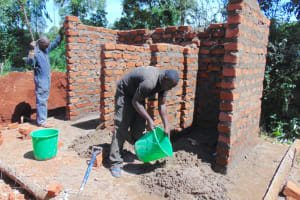 The Water Project: Gamalenga Primary School -  Latrine Construction