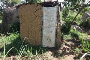 The Water Project: Mahira Community, Jairus Mwera Spring -  Latrine