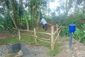 The Water Project: Bukhaywa Community, Ashikhanga Spring -  Fencing