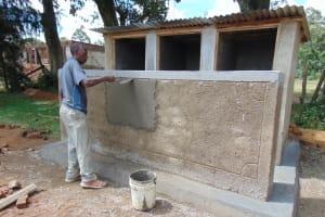 The Water Project: Friends Secondary School Shirugu -  Latrine Construction