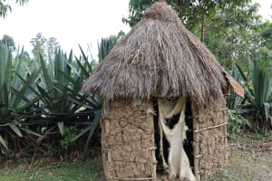 The Water Project: Mukhonje Community, Mausi Spring -  Pit Latrine