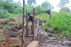 The Water Project: Chepnonochi Community, Shikati Spring -  Fencing
