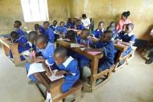 The Water Project: Makale Primary School -  Pupils Take Notes At Training