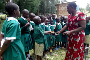 The Water Project: Friends School Mahira Primary -  Handwashing Demonstration With Ash