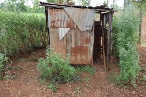 The Water Project: Harambee Community, Elijah Kwalanda Spring -  Latrine
