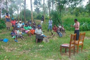 The Water Project: Bukhaywa Community, Ashikhanga Spring -  Training With Rose