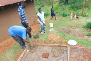 The Water Project: Chepnonochi Community, Shikati Spring -  Sanitation Platform Construction