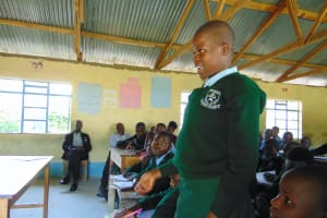 The Water Project: Friends Kuvasali Secondary School -  A Student Shares A Response At Training