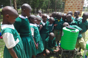 The Water Project: Friends School Mahira Primary -  Students Try Out The Handwashing Station