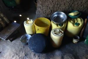 The Water Project: Mahira Community, Kusimba Spring -  Water Storage Containers