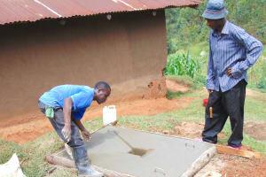 The Water Project: Chepnonochi Community, Shikati Spring -  Sanplat Construction