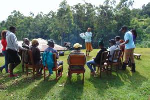 The Water Project: Chepnonochi Community, Shikati Spring -  Training
