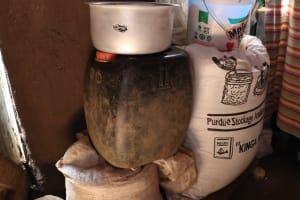 The Water Project: Harambee Community, Elijah Kwalanda Spring -  Water And Food Storage