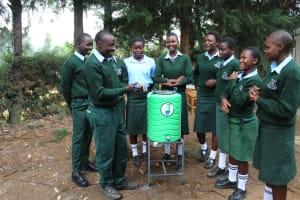 The Water Project: Friends Kuvasali Secondary School -  Handwashing Demonstrations