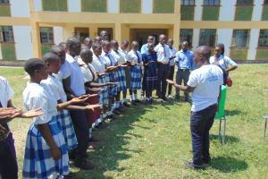 The Water Project: Friends Secondary School Shirugu -  Handwashing Demonstration