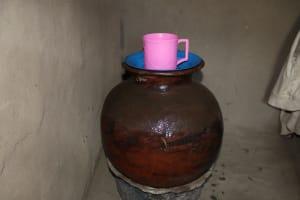 The Water Project: Mukhonje Community, Mausi Spring -  Water Storage Storage Pot