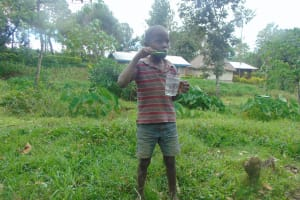 The Water Project: Bukhaywa Community, Ashikhanga Spring -  Toothbrushing Demonstrator