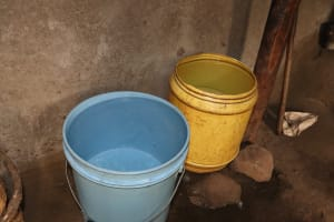 The Water Project: Harambee Community, Elijah Kwalanda Spring -  Water Storage Containers