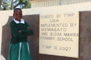 The Water Project: Friends School Mahira Primary -  Young Girl Poses With Her New Latrines