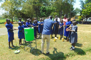 The Water Project: Makale Primary School -  Demonstrating Handwashing Steps