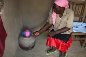 The Water Project: Mukhonje Community, Mausi Spring -  Drinking Water Storage Pot
