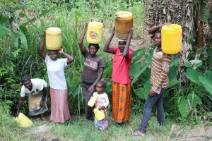 The Water Project: Litinye Community, Shivina Spring -  Almost Ready To Head Home