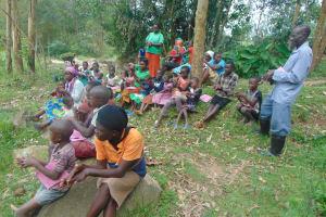 The Water Project: Bukhaywa Community, Ashikhanga Spring -  Learning Good Handwashing Technique